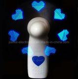 Battery Operated personalizzato Messaggio LED mini ventilatore con logo stampato (3509)