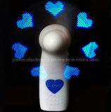 Battery Operated personalizzato Messaggio LED mini ventilatore con logo stampato (3509)