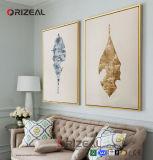 Pintura al óleo decorativa de la lona del arte moderno pintado a mano de la pared para la decoración casera
