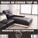 Sofà stabilito di svago di Glas del sofà sezionale a forma di L moderno