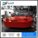 Imán de levantamiento de bobina de forma ovalada para descargar chatarra de acero desde el espacio estrecho MW61-300210L / 1-75