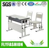 簡単な二重教室の机のセットされる一定の学校の机および椅子(SF-26D)