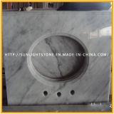 Изготовленный на заказ Countertops для селитебного, гостиница кухни Carrara белые каменные мраморный
