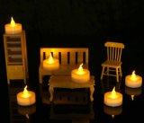 Bedientes flammenloses LED-Tee-Licht für Saison- u. Festival-Feier, Satz von 12, elektrische gefälschte Kerze in warmem weißem und Welle geöffnet