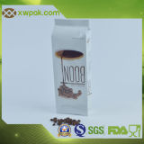 Seitliche Stützblechkaffee Plastikbeutel mit Ventil