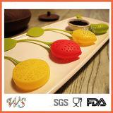 Filtro stabilito dal tè del setaccio del foglio del commestibile di Infuser del tè del silicone di Ws-If047s