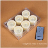 Miniwachs-Kerze-gelbe flackernde duftende Kerze mit 2 Schlüsseln Fernsteuerungs