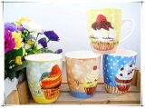 Milk Cup를 위한 견본 중국 Flower Ceramic Mugs