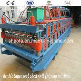 Doppelte Schicht-Dach-Panel walzen die Formung der Maschine kalt (AF-R900/1000)