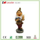 Estátua Dwarf de Polyresin das Quente-Vendas para os ornamento Home da decoração e do jardim