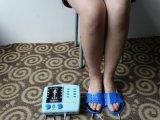 Deslizador negro cómodo de los diez el ccsme para el masaje de Electrod del pie