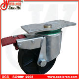 6 Rigid Black Rigid Dustbin Castor