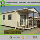 Casa prefabricada del envase del bajo costo del diseño moderno para la venta