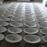 Corianの固体表面の石造りの円形の大理石のカウンタートップの洗面器