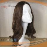 Parrucca cascer ebrea superiore dei capelli umani di disegno di colore della pelle bianca centrale nera della dea bella