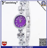 Запястье руки вахты повелительниц кристалла кварца повелительницы wristwatches сплава уникально способа конструкции Yxl-407 роскошное