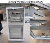 プラスチック開き窓のWindows、PVC二重ガラスの日除けのWindows