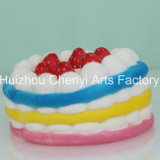 OEM 느린 반동 다채로운 음식 모양 PU 거품 케이크