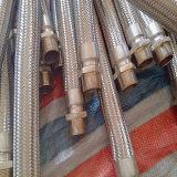 Annulaire ondulé de boyau en métal d'acier inoxydable avec le tressage