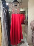 Vestido de noche rojo, vestido del partido, alineadas de boda