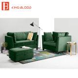 Modèles réglés de mini sofa de velours de couleur verte pour la pièce de réglage