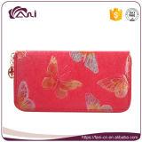 Бумажник женщин цвета оптовой продажи 4 напечатанный бабочкой кожаный