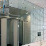 Specchio di vetro laminato per architettura, ginnastica, stanza da bagno, mobilia