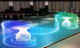 Programa de música de baile al aire libre gran fuente de agua