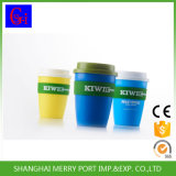 Precio razonable de plástico taza de café con silicio Ronda