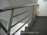 Balustrade d'escalier d'acier inoxydable de produits en acier de support de mur