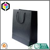 Sacchetto caldo della maniglia dell'elemento portante del regalo del documento del nero di vendita