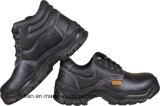 Echtes Leder-Sicherheits-Schuh mit der Roheisen-Zehe und Platte