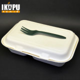 Biodegradable Disposable Bamboo Pulp Lunch Box