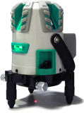 Уровень лазера лучей вкладыша 5 лазера зеленый с детектором лазера крена силы