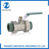 Dr 1018 Double Union Brass Ball Valve PPR