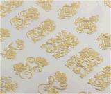 collant de clou de collants d'art de clou de modèle de fleurs de Rose de l'or 3D
