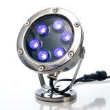 Luz subacuática al aire libre de la fuente de la luz DMX LED del punto