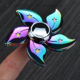 Hilandero de la mano del hilandero de la persona agitada de la aleación del cinc del arco iris de la flor de Fs055 Hong-Kong con Ce