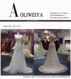 Просто платье венчания Applique планок lhbim