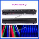 LED de luz de la colada de la viga 8PCS * 10W RGBW Luz