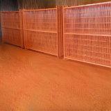Acoplamiento de alambre soldado cubierto PVC de cuatro colores para la cerca