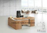 Mesa/tabela executivas do gerente da mesa da cor clara da noz