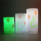 Velas de imitação a pilhas Wedding do diodo emissor de luz do plástico piscar decorativo