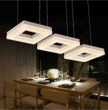 Die quadratische Deckenleuchte des Acryl-LED