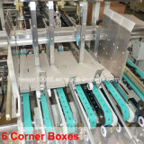 6 automáticos máquina de canto de Gluer do dobrador da caixa (WO-1050PC-R)