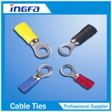 Rv pulsa la terminal aislada del anillo de las virolas del extremo de la cuerda