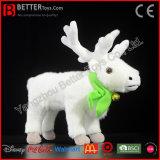 Stuk speelgoed van het Rendier van het Stuk speelgoed van de Jonge geitjes van de Kariboe van de Pluche van de Gift van Chirstmas het Dier Gevulde Zachte Witte
