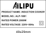 Ailipu Brand 2000W Plaque de cuisson à induction à bouton-poussoir Alp-18b1