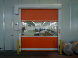 Дверь завальцовки ткани PVC быстро