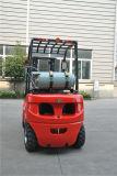 Tonelada LPG de la nueva serie la O.N.U 2.0-3.5 y carretilla elevadora del combustible del doble de la carretilla elevadora de la gasolina